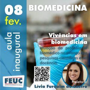 Aula inaugural do curso de Biomedicina