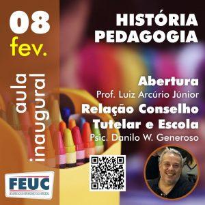 Aula inaugural dos cursos de Pedagogia e História.